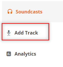 add track button