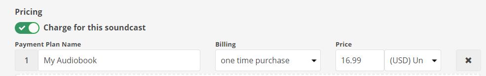 audiobook pricing