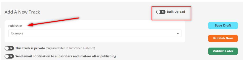 bulk upload button