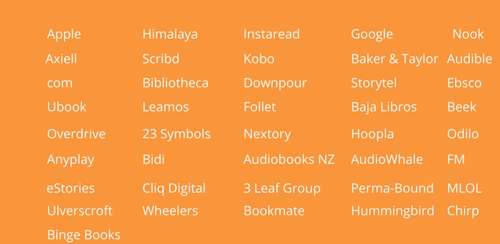 audiobook distributor retailers